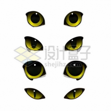4款猫咪的眼睛png图片素材