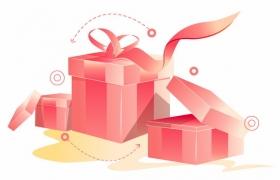 打开的红色礼品盒礼物盒404763AI矢量图片免抠素材