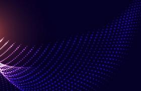 蓝色白色渐变色粒子量子波动抽象黑色背景图4763290png图片素材