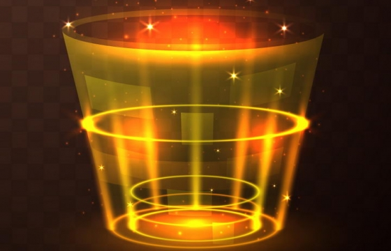 金黄色发光光圈科幻风格传送门效果图片免抠矢量图素材