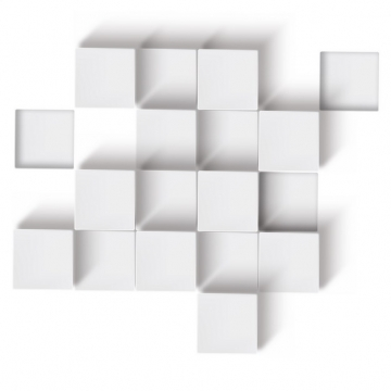 3D立体白色立方体方块矩阵281190png图片素材