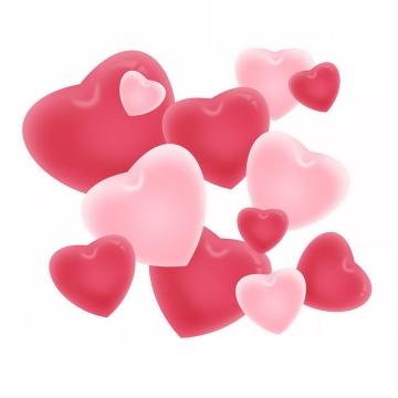 情人节爱情粉色爱心心形图案图片免抠素材
