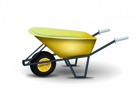一辆手推车独轮车png图片免抠矢量素材