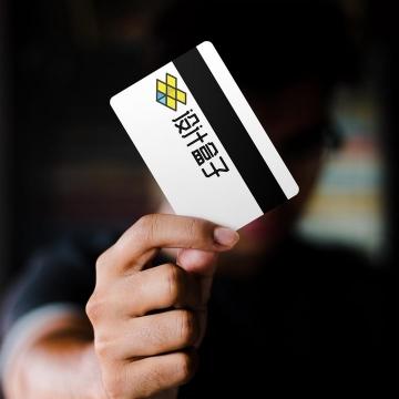 信用卡银行卡背面样机图片设计模板素材