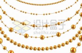 各种金色珍珠项链珠宝首饰png图片素材