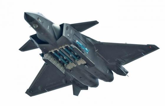 高清打开弹仓的J20歼20战斗机png免抠透明图片