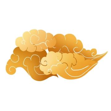 金色祥云图案图片免抠素材