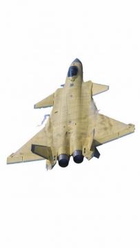 黄皮试飞的歼20战斗机png免抠透明图片