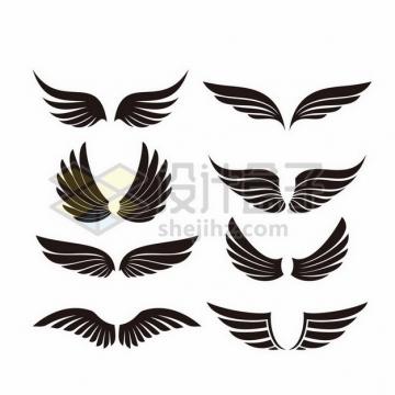 8款黑色翅膀图案3234656png图片素材