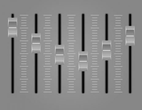 灰色的音量调节键音乐均衡器免抠矢量图片素材