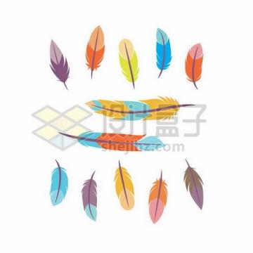 各种彩色羽毛图案3256823png图片素材