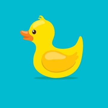 卡通小黄鸭玩具图片免抠矢量素材