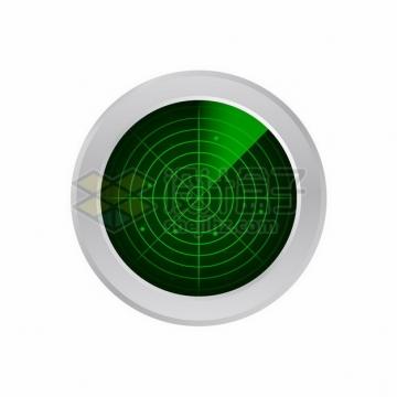 绿色雷达图雷达扫描图811085png图片素材