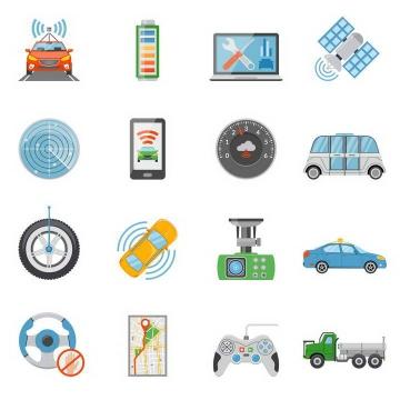 16款最新的汽车技术图标图片免扣素材