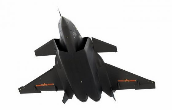 超酷的黑色涂装歼20战斗机png免抠透明图片