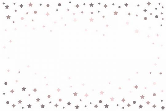 各种灰色星星五角星圆点装饰png图片免抠矢量素材
