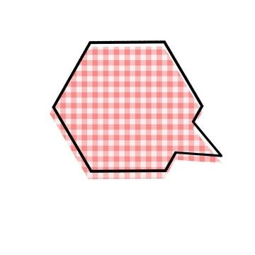 红色格子孟菲斯风格对话框文本框图片免抠素材
