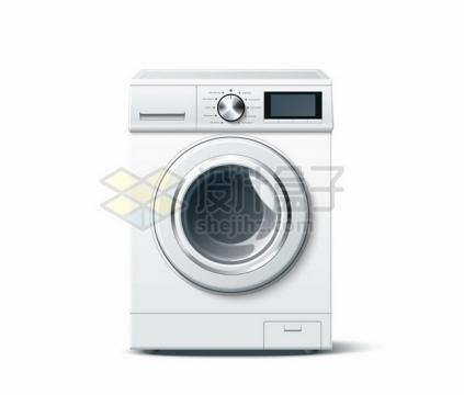 逼真的滚筒洗衣机810716png图片素材