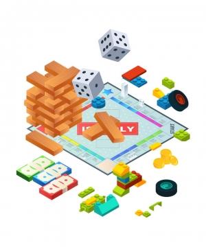 各种益智类游戏玩具图片免抠矢量素材