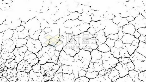 旱灾干旱地面干裂龟裂的土地黑色裂纹裂缝图案680346png图片素材