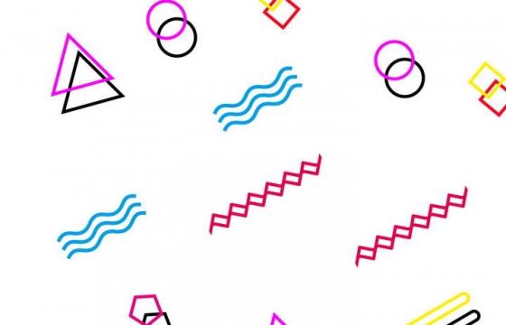 孟菲斯风格简约形状装饰图片免抠素材