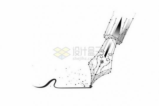 点线多边形组成的钢笔png图片免抠矢量素材