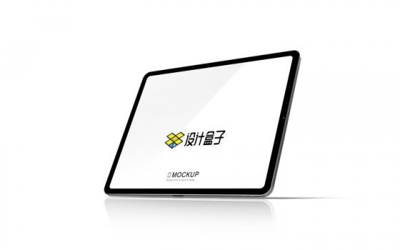有倒影的苹果iPad Pro平板电脑屏幕展示样机图片设计模板素材