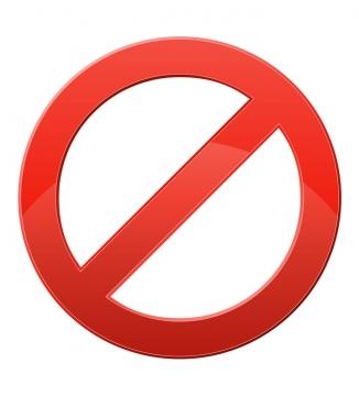 红色禁止标志免抠矢量图片素材