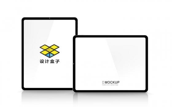 2款苹果iPad Pro平板电脑屏幕展示样机图片设计模板素材