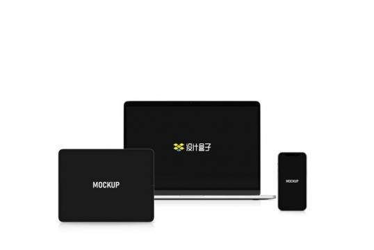 苹果iPad平板电脑MacBook Pro笔记本电脑和iPhone手机屏幕展示样机图片设计模板素材