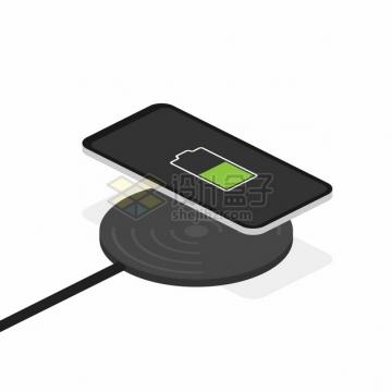 苹果小米华为手机无线充电器使用示意图png图片素材