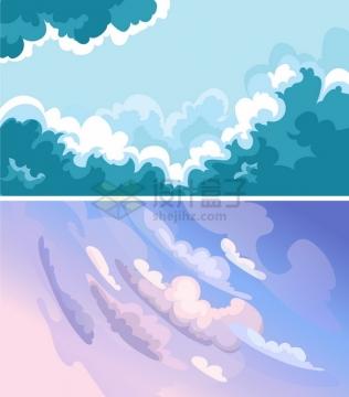 2款卡通云朵天空背景3616869png图片素材