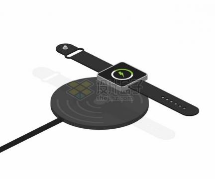 智能手表无线充电器使用示意图746800png图片素材