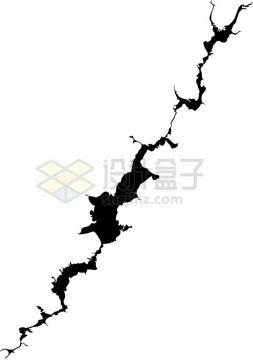 黑色墙壁干裂龟裂的土地黑色裂纹裂缝图案5412879png图片素材