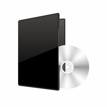 黑色文件夹中的dvd光盘光碟png图片免抠矢量素材