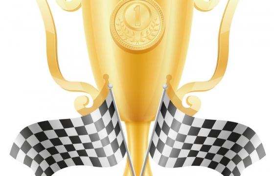 金色的奖杯和奖牌免抠矢量图片素材