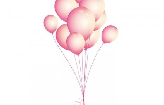 一束粉色告白气球图片装饰免抠素材