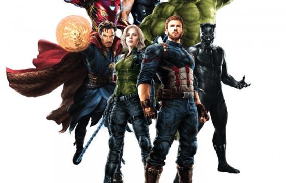 漫威电影复仇者联盟中多位超级英雄合影图片免抠素材