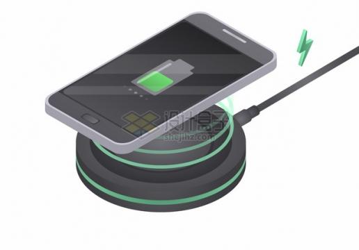 手机和智能手表无线充电器使用示意图418016png图片素材