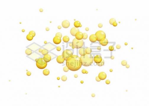 黄色油滴气泡水泡504210png图片素材