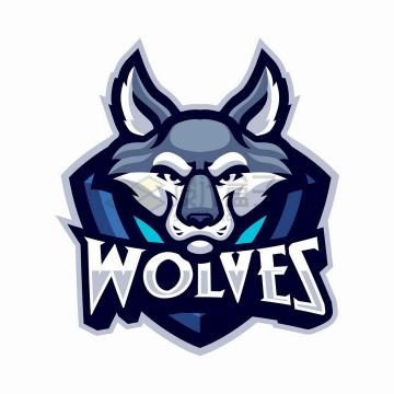 野狼森林狼草原狼游戏公司logo设计png图片免抠矢量素材