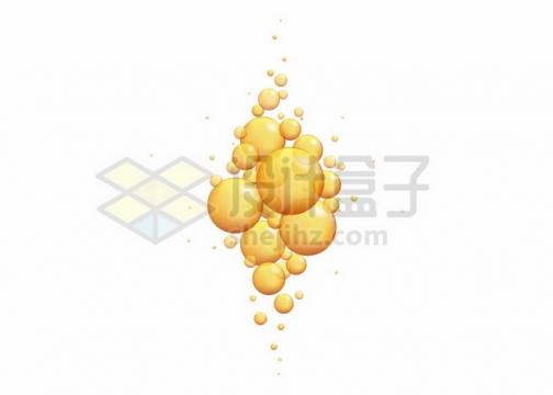 黄色油滴气泡水泡114256png图片素材