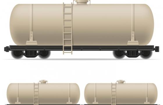 火车油罐车拖车免抠矢量图片素材