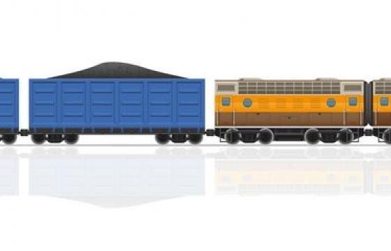 运煤的货运火车免抠矢量图片素材