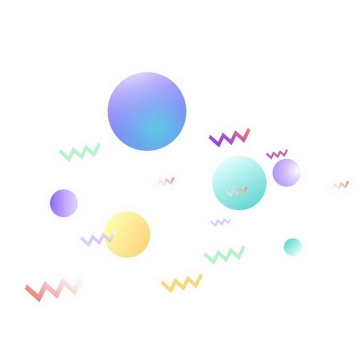 流体渐变风格电商圆球装饰图片免抠素材
