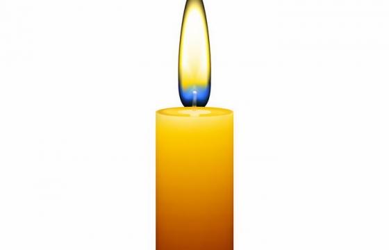 一根正在燃烧着小火苗的蜡烛png图片免抠eps矢量素材