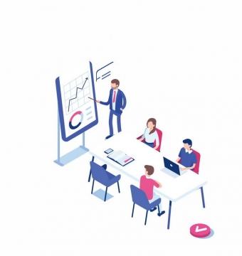 2.5D风格手机办公会议商务图片免抠素材