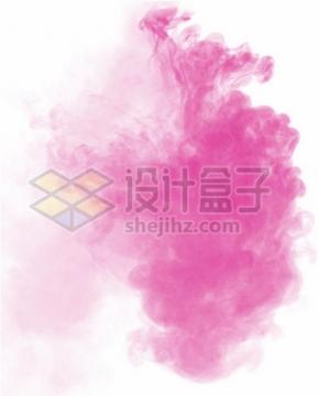 粉红色的烟雾浓烟效果png图片免抠素材