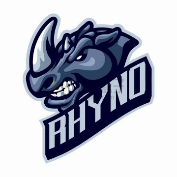 愤怒的犀牛游戏公司logo设计png图片免抠矢量素材