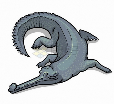 手绘插图鳄鱼野生动物png图片免抠矢量素材